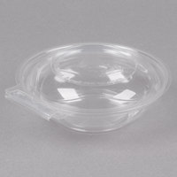 Polar Pak 5HGR008-TV Clear Tamper-Visible 8 oz. Round Bowl with Lid - 80/Pack
