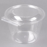 Polar Pak 5HGR048-TV Clear Tamper-Visible 48 oz. Round Bowl with Lid - 45/Pack