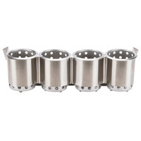 Steril-Sil UB-4CYL Four Hole Under Bar Silverware Dispenser with Four S-500 Cylinders