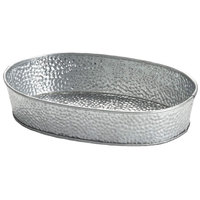Tablecraft GP96 9 1/2 inch x 6 inch Oval Galvanized Steel Diner Platter - 12/Pack