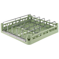 Vollrath 52669 Signature Full-Size Light Green Open End Steam Table Pan Rack