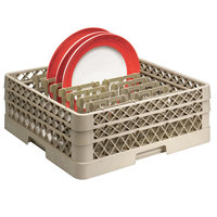 Vollrath TR3AAP16 Traex Beige Full Size Extended Peg Rack for 18 1/16 inch Diameter Plates