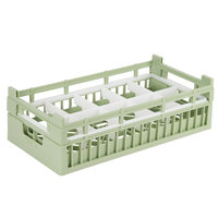 Vollrath 52820 Signature Half-Size Light Green 10-Compartment 5 11/16 inch Medium Rack