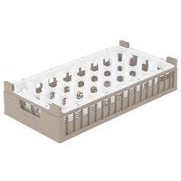 Vollrath 52828 Signature Half-Size Cocoa 32-Compartment 7 3/16 inch Tall Rack