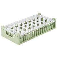 Vollrath 52834 Signature Half-Size Light Green 32-Compartment 10 3/8 inch XX-Tall Rack