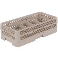 Vollrath HR1C1A Traex Half-Size Beige 10 Compartment 5 1/2 inch Tall Glass Rack