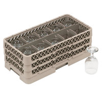 Vollrath HR1C1CA Traex Half-Size Beige 10 Compartment 7 5/16 inch Tall Glass Rack