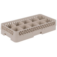 Vollrath HR1C1 Traex Half-Size Beige 10 Compartment 3 13/16 inch Tall Glass Rack