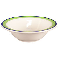 Homer Laughlin 1655083 Shamrock and Cobalt 3.25 oz. Rolled Edge Fruit Bowl - 36/Case