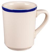 Homer Laughlin 1305083 Shamrock and Cobalt 8.25 oz. Rolled Edge Denver Mug - 36/Case