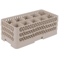 Vollrath HR1C1CC Traex Half-Size Beige 10 Compartment 7 5/16 inch Tall Glass Rack