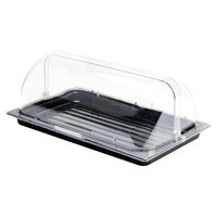 Sample and Display Tray Kit with Black Polycarbonate Tray and Roll Top Cover