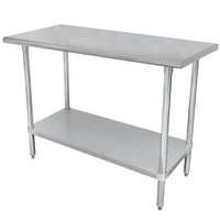 """Advance Tabco ELAG-305-X 30"""" x 60"""" 16 Gauge Stainless Steel Work Table with Galvanized Undershelf"""
