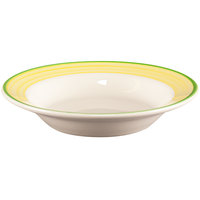 Homer Laughlin 2535078 Sunflower and Shamrock 12.75 oz. Rolled Edge Rim Soup Bowl - 24/Case