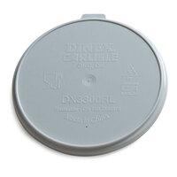 Dinex DX3000RL Turnbury  Gray Reusable Lid for Dinex DX3200 Turnbury 5 oz. Insulated Pedestal Based Bowl and DX3000 Turnbury 8 oz. Insulated Pedestal Based Mug - 250 / Case