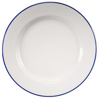 Homer Laughlin 6426031 Pristine with Kerry Cobalt Blue Rim 12 1/4 inch Round China Plate - 12/Case