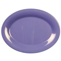 13 1/2 inch x 10 1/2 inch Oval Purple Platter 12 / Pack
