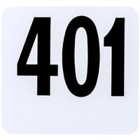 American Metalcraft 4450 Plastic Table Number Set - Numbers 401 - 450