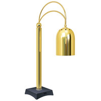 Hatco DCS400-1 Decorative Carving Station Lamp with Granite Gray-Colored Base and Bright Brass Finish - 120V, 250W