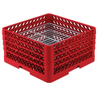 Vollrath PM3008-4 Traex Red 30 Compartment Plate Rack - 8 inch-8 3/8 inch