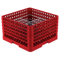 Vollrath PM2110-5 Traex Red 21 Compartment Plate Rack - 9 3/16 inch-10 inch
