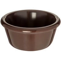 Carlisle S28669 6 oz. Smooth Chocolate Brown Melamine Ramekin - 48/Case