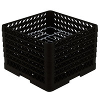 Vollrath PM1412-6 Traex Black 14 Compartment Plate Rack - 10 3/4 inch-12 5/16 inch
