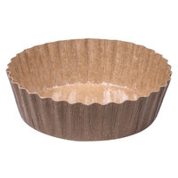 Solut 91068 5.7 oz. Corrugated Kraft Baking Cup with PET Coating - 1200 / Case