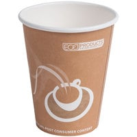 Eco Products EP-BRHC8-EW Evolution World PCF 8 oz. Paper Hot Cup - 50 / Pack