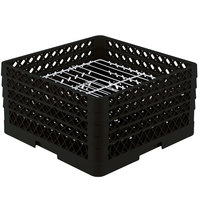 Vollrath PM2209-3 Traex Black 22 Compartment Plate Rack - 7 inch-7 7/8 inch