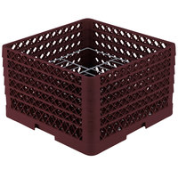 Vollrath PM1510-5 Traex Burgundy 15 Compartment Plate Rack - 9 inch-10 3/4 inch