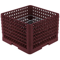 Vollrath PM1912-6 Traex Burgundy 19 Compartment Plate Rack - 11 inch-12 inch