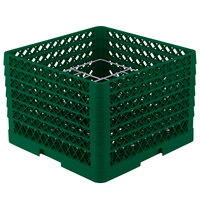 Vollrath PM1211-4 Traex Green 12 Compartment Plate Rack - 8 3/4 inch-9 3/16 inch