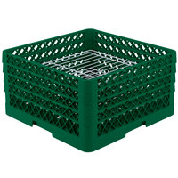 Vollrath PM3208-4 Traex Green 32 Compartment Plate Rack - 7 5/8 inch-8 inch