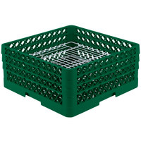 Vollrath PM4407-3 Traex Green 44 Compartment Plate Rack - 6 inch-7 inch