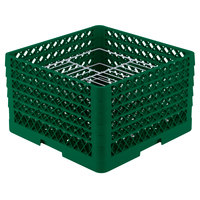 Vollrath PM2110-4 Traex Green 21 Compartment Plate Rack - 8 3/4 inch-9 3/16 inch