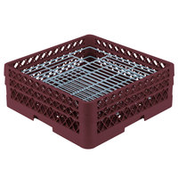 Vollrath PM4806-2 Traex Burgundy 48 Compartment Plate Rack - 5 inch-6 inch
