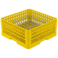 Vollrath PM2006-3 Traex Yellow 20 Compartment Plate Rack - 4 3/4 inch-6 1/2 inch