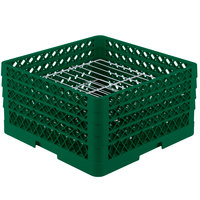 Vollrath PM2209-4 Traex Green 22 Compartment Plate Rack - 7 inch-8 3/4 inch