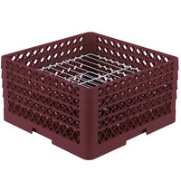 Vollrath PM2209-4 Traex Burgundy 22 Compartment Plate Rack - 7 inch-8 3/4 inch