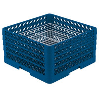 Vollrath PM3008-4 Traex Royal Blue 30 Compartment Plate Rack - 8 inch-8 3/8 inch