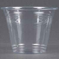 Choice 9 oz. Clear PET Plastic Squat Cold Cup - 1000 / Case