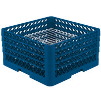 Vollrath PM3208-3 Traex Royal Blue 32 Compartment Plate Rack - 4 3/4 inch-7 5/8 inch