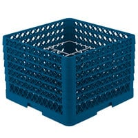 Vollrath PM1211-4 Traex Royal Blue 12 Compartment Plate Rack - 8 3/4 inch-9 3/16 inch