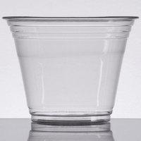 Choice 9 oz. Clear PET Plastic Squat Cold Cup - 50/Pack