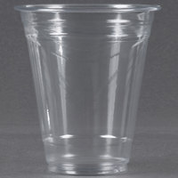 Choice 12 oz. Clear PET Plastic Cold Cup - 50 / Pack
