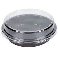 8 inch Bake and Show Round Paperboard Oven-Ready Takeout / Cake Pan with Lid - 10 Pack