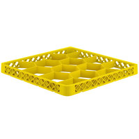 Vollrath TRJ Yellow Full-Size 12 Compartment Extender for Vollrath Traex Glass Racks
