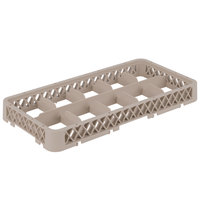 Vollrath HRC1 Traex Half-Size Beige 10-Compartment 1 3/4 inch Dropped Glass Rack Extender