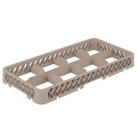 Vollrath HRB Traex Half-Size Beige 8 Compartment Glass Rack Extender